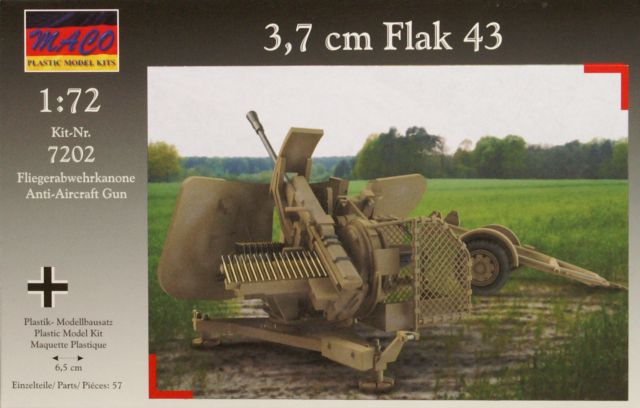 3 7 cm flak 43 maco nr 7202 modellversium kit ecke. Black Bedroom Furniture Sets. Home Design Ideas