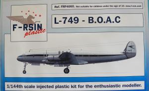 Kit-Ecke: Lockheed L-749 - B.O.A.C