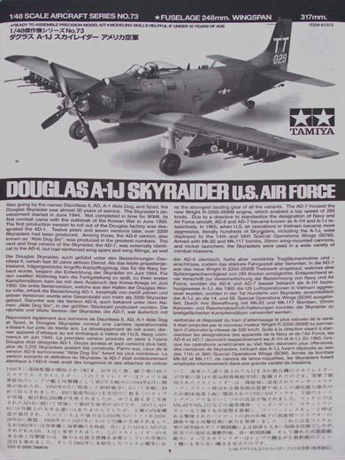 Tamiya - Douglas A-1J Skyraider U.S. Air Force