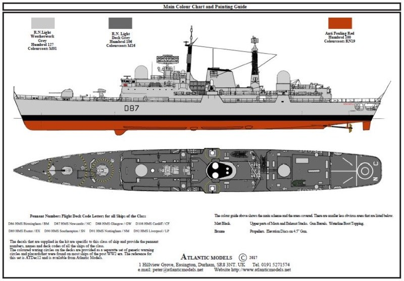 Atlantic Models - H.M.S. Newcastle