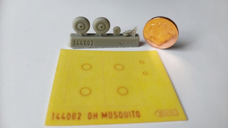 RESCUE MODELS - DH Mosquito Wheel Set and Tail Gear