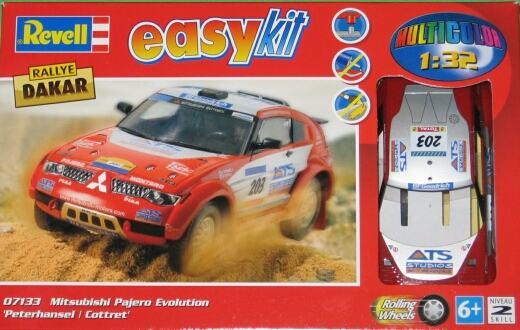 Revell 07133-0389 Mitsubishi Pajero Evolution Easykit Maßstab 1:32 Modellbau
